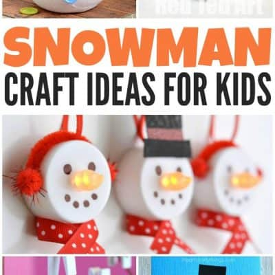 10 Adorable (and Easy!) Snowman Crafts For Kids