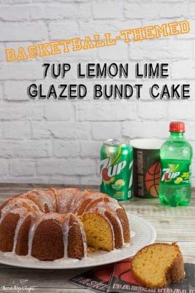 Basketball-Themed 7UP Lemon Lime Glazed Bundt Cake