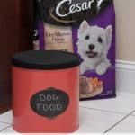 Making a Popcorn Tin Dog Food Storage Container