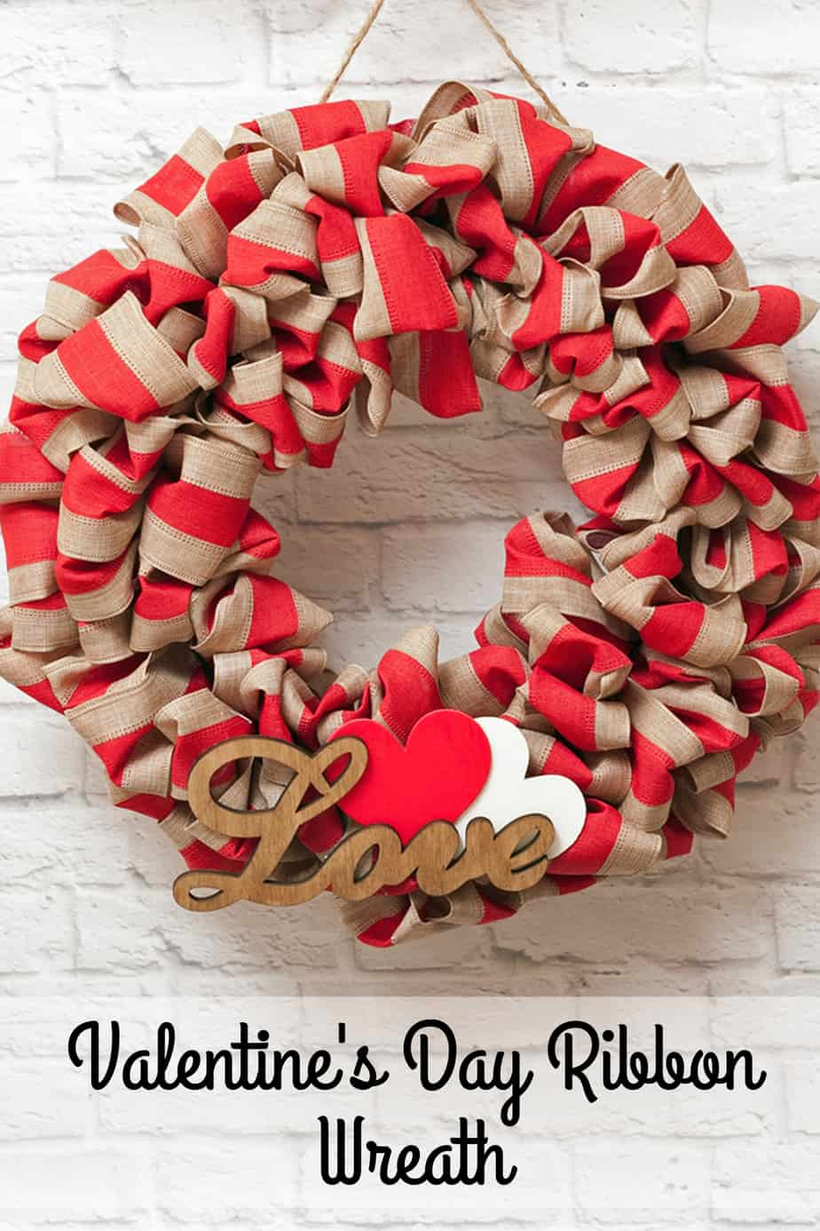 Bubble Style Valentine S Day Ribbon Wreath Third Stop On The Right