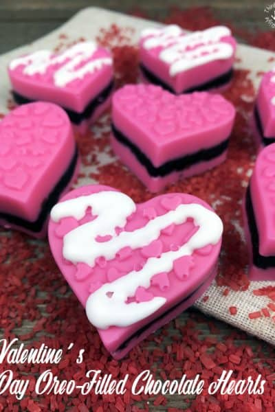 Valentine's Day Oreo-Filled Chocolate Hearts
