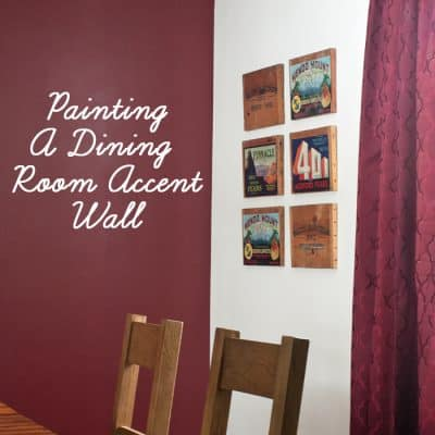 Going Bold: Painting My Dinning Room Accent Wall
