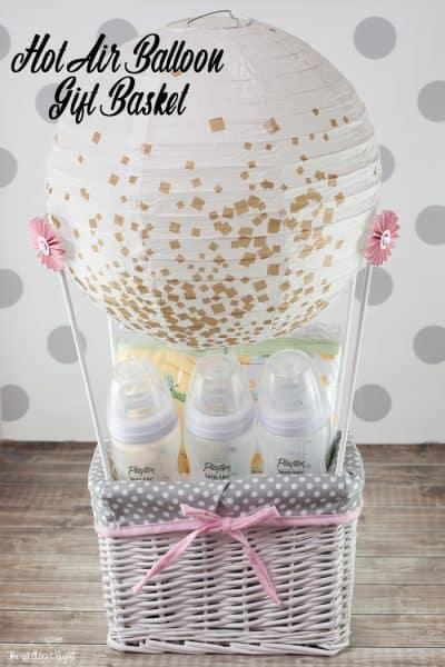 Make a Hot Air Balloon Gift Basket