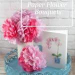 Making Tissue Paper Flower Bouquets