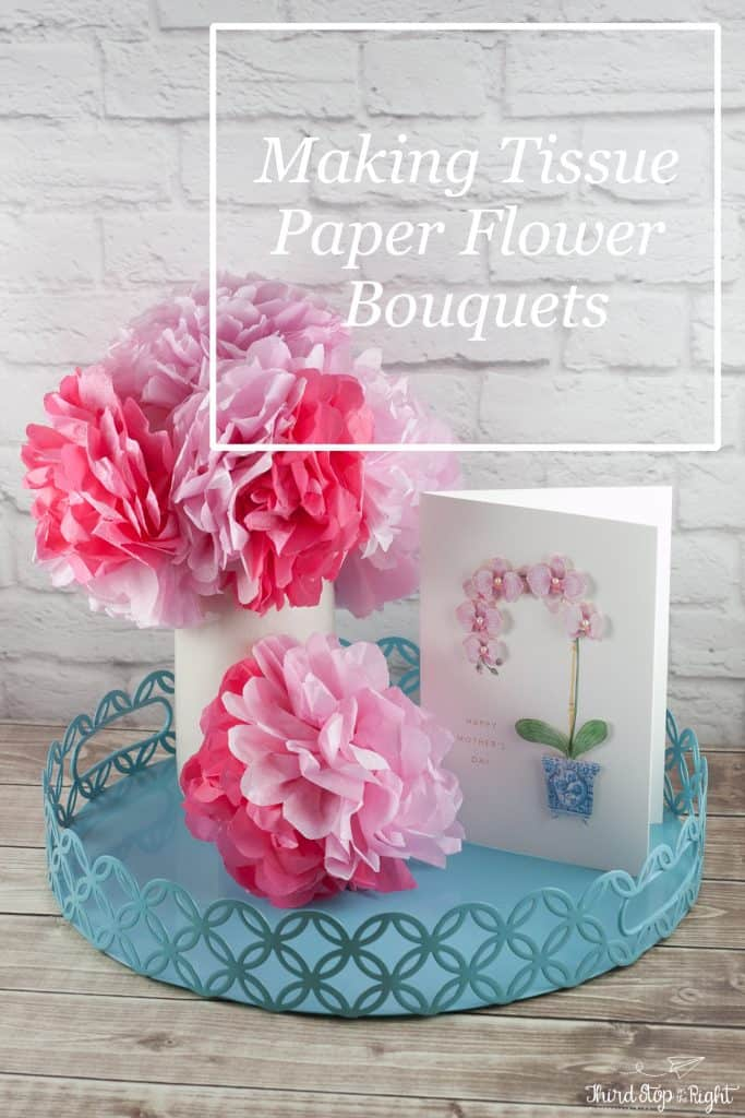 Make beautiful tissue paper flowers in four easy steps. Perfect for bouquets and weddings.