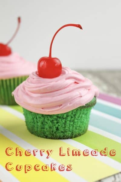 Refreshing Cherry Limeade Cupcakes
