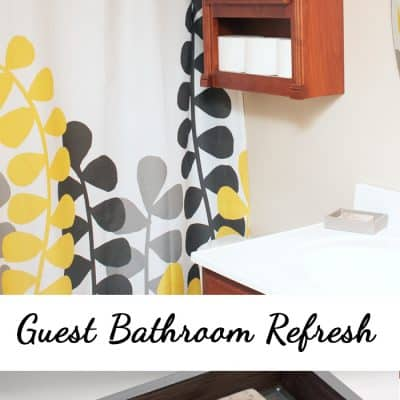 Giving My Guest Bathroom a Bathroom Refresh Makeover