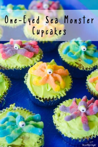 One Eyed Sea Monster Cupcakes – More Fun Than Scary!