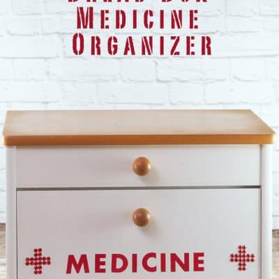 Create A Medicine Organizer from a Bread Box
