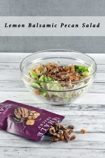 Lemon Balsamic Pecan Salad