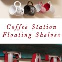 Floating Shelf Coffee Station DIY