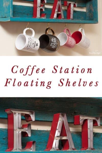 Floating Shelf Coffee Station DIY