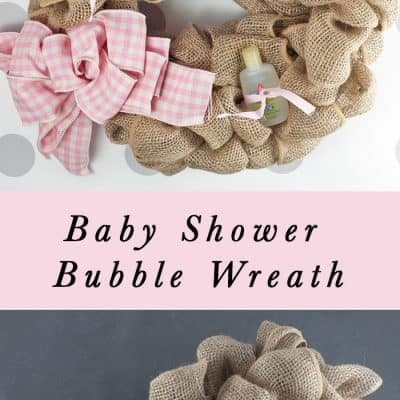 Making a Burlap Baby Essentials Wreath