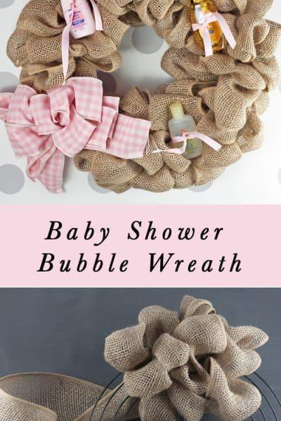 Making a Burlap Baby Essentials Wreath