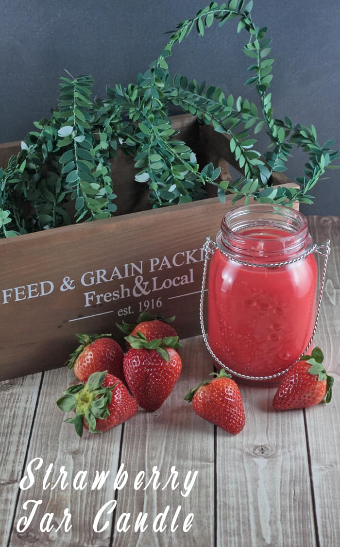 Summer Strawberry Scented Soy Jar Candle