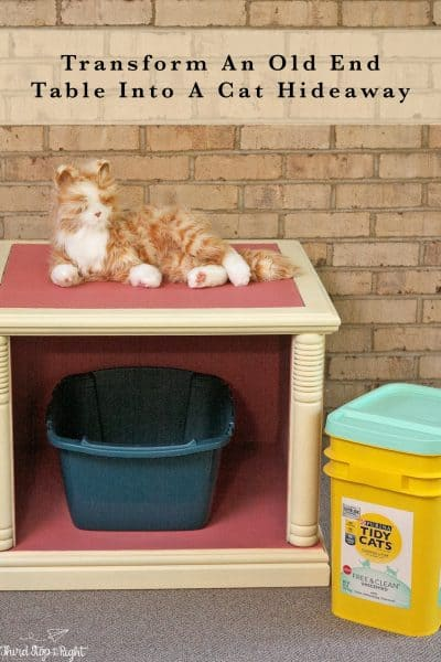Turn An Old End Table into a Pet Hideout