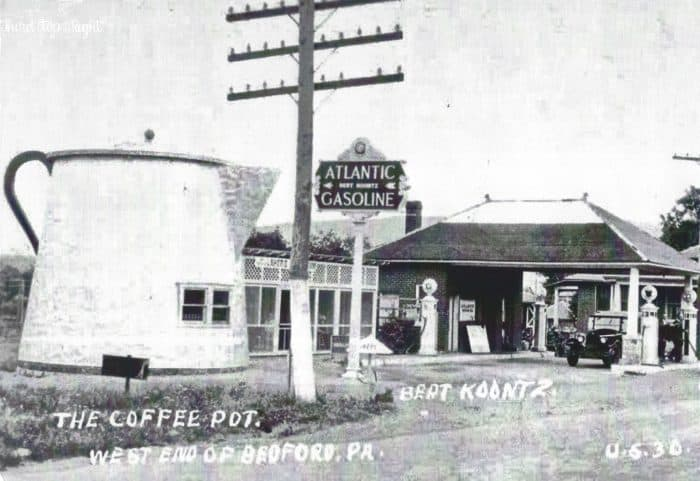 The Coffee Pot in Bedford was originally started as part of a service and gas station