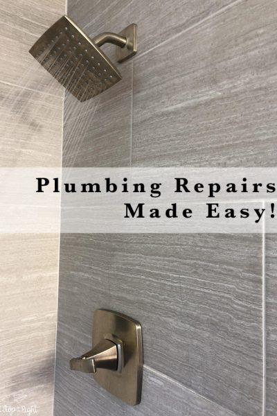 Home Plumbing Repairs Made Easy