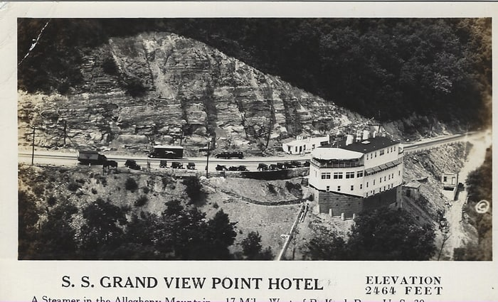 Aerial View of the Ship Hotel