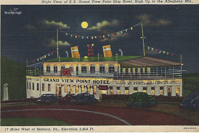 Ship Hotel at Night