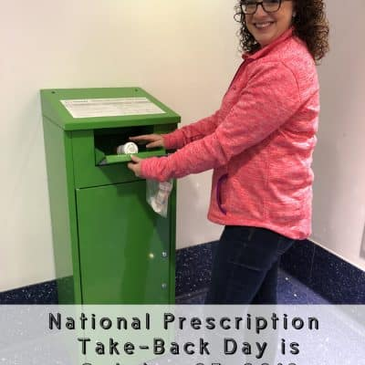 National Prescription Drug Take-Back Day is October 27