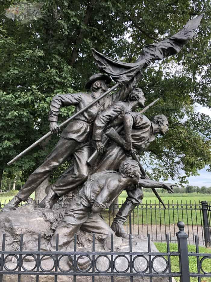 Confederate Monument Confederate Lines Gettysburg
