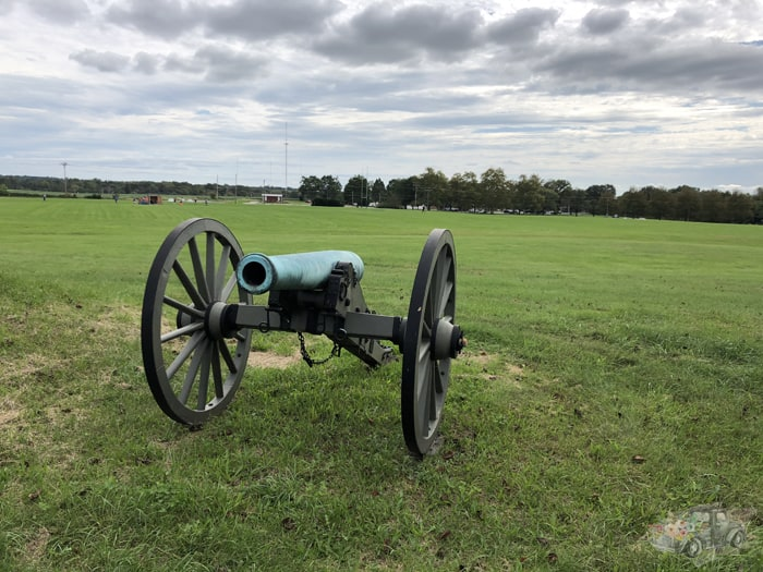 Cannons on the battlefield at Gettysburg