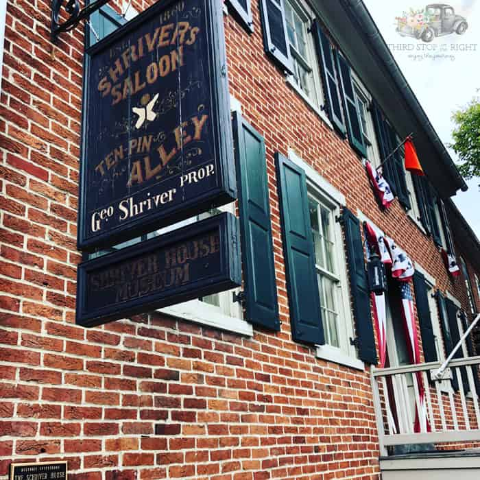 outside of the Shriver House  in Gettysburg PA