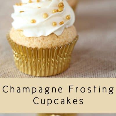 Make These Elegant Champagne Cupcakes