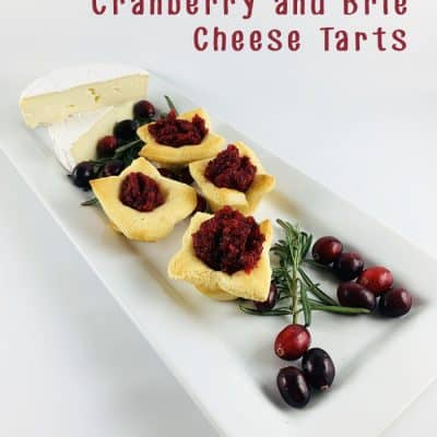 3 Ingredient Cranberry and Brie Cheese Tarts