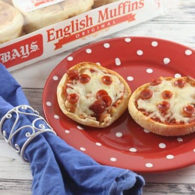 English Muffin Mini Pizzas Make a Great Anytime Snack