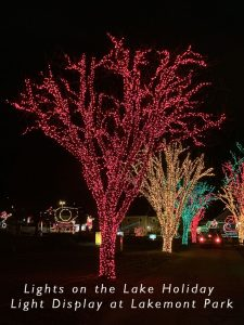 Lakemont Park Lights on the Lake Display