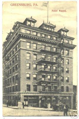 Hotel Rappe Postcard