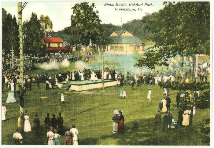 Sham Battle at Oakford Park