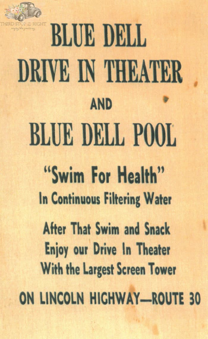 Blue Dell Swimming Pool Advertisement