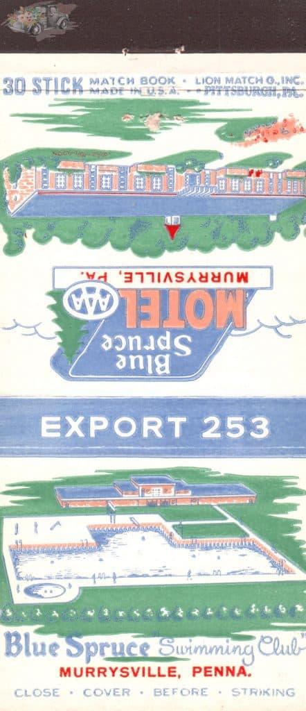 Blue Spruce Murrysville Matchbook Cover