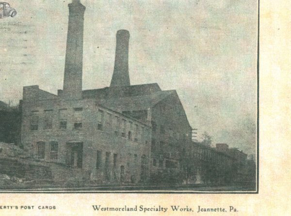 Westmoreland Glass Company in Grapeville