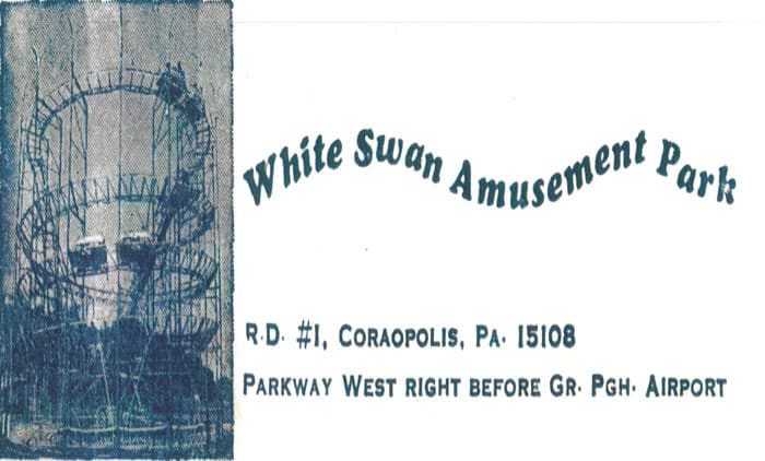 White Swan Park Mad Mouse Advertisement
