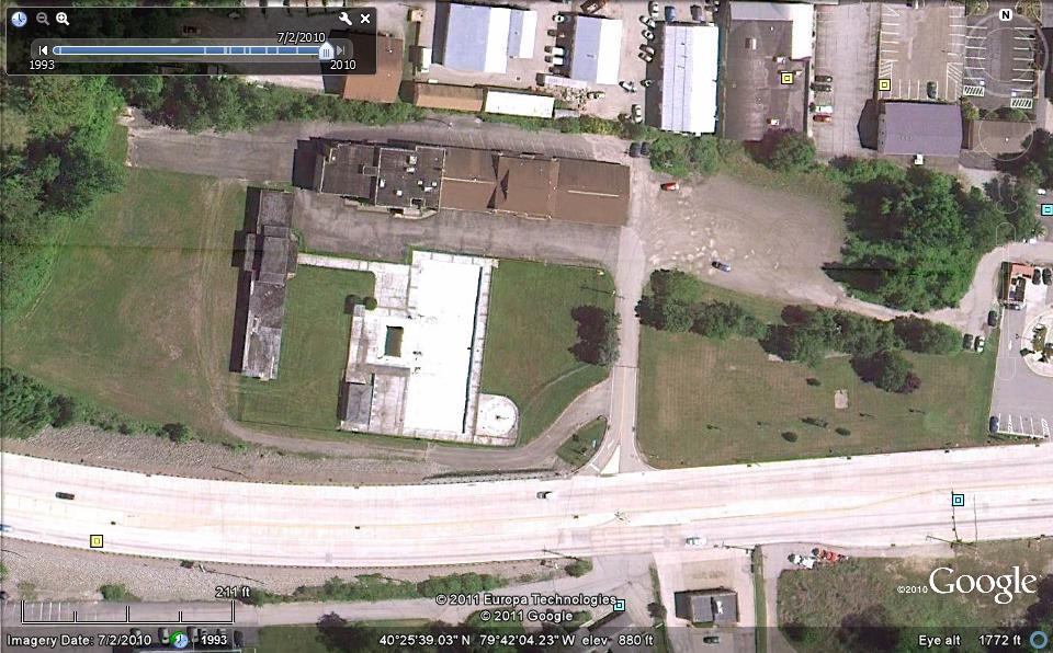 Google Maps View of Blue Spruce Motel