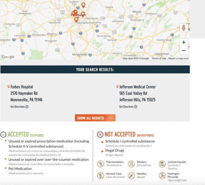 LifeInCheck Drug Disposal Finder