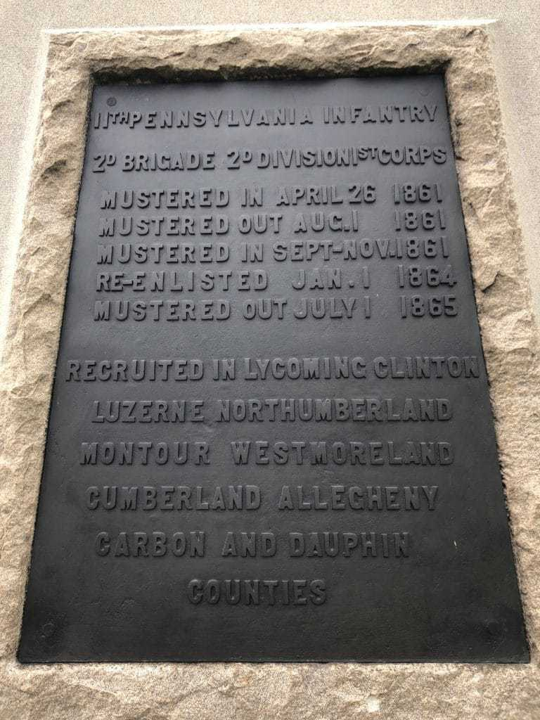 11th Pennsylvania Monument Muster