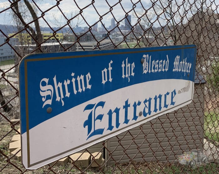 Shrine of the Blessed Mother Entrance Sign