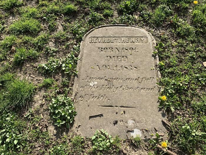 Reverend Robert Henry's Grave