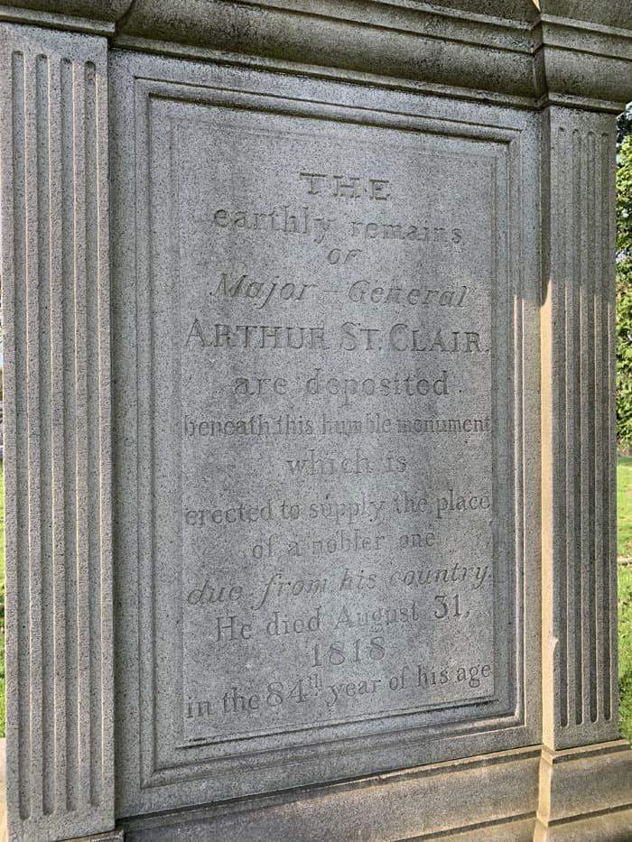 Arthur St. Clair grave