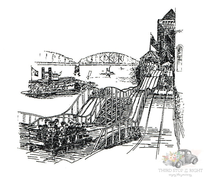 Drawing of Switchback Railway