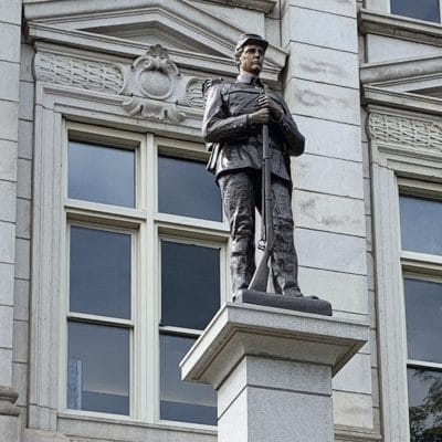 The Soldier Statue in Greensburg's Courthouse Square