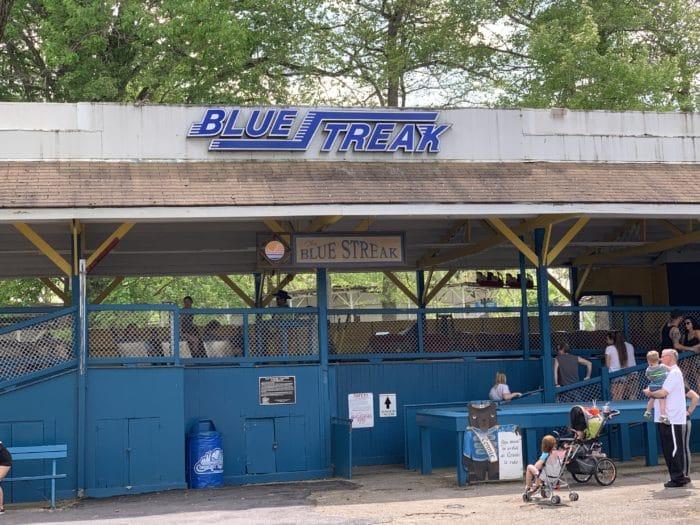 The Blue Streak at Conneaut Lake Park