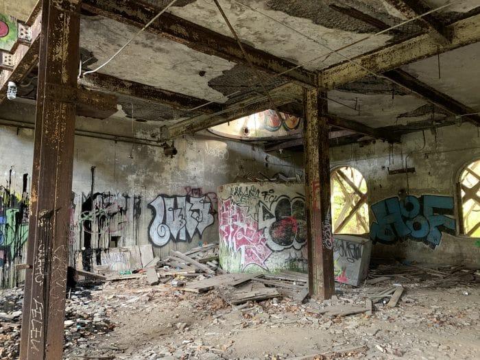 Inside Overholt Distillery