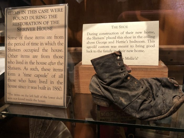 Child's Shoe at Shriver House Museum
