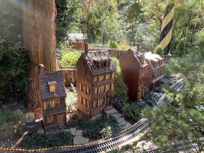 Morris Arboretum Garden Railway Betsy Ross House